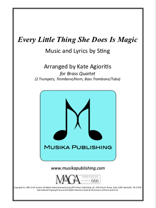 Every Little Thing She Does Is Magic - Brass Quartet