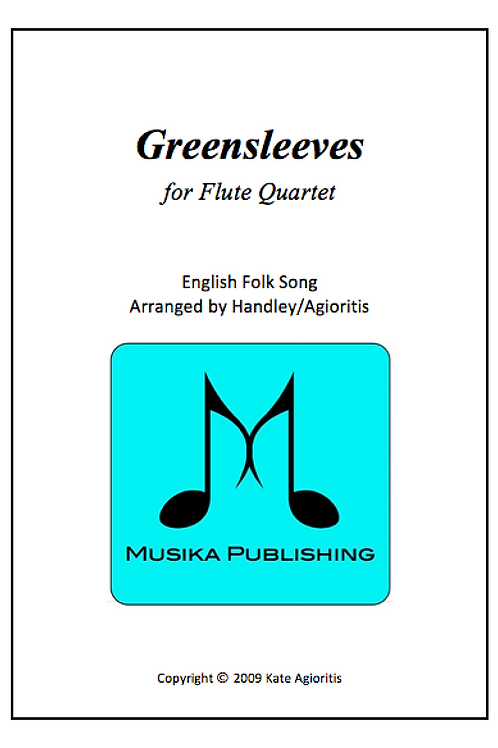 Greensleeves (What Child Is This) - Flute Quartet
