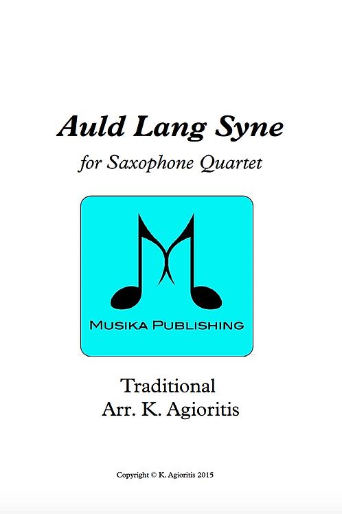 Auld Lang Syne (Jazz) - Saxophone Quartet