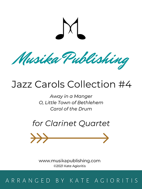 Jazz Carols Collection Set 4 - Clarinet Quartet