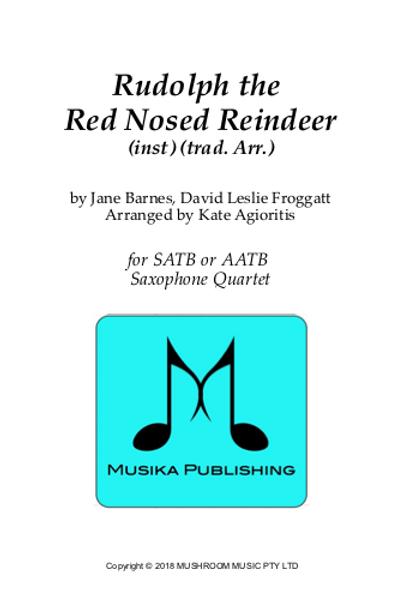 Rudolph the Red Nosed Reindeer - Saxophone Quartet