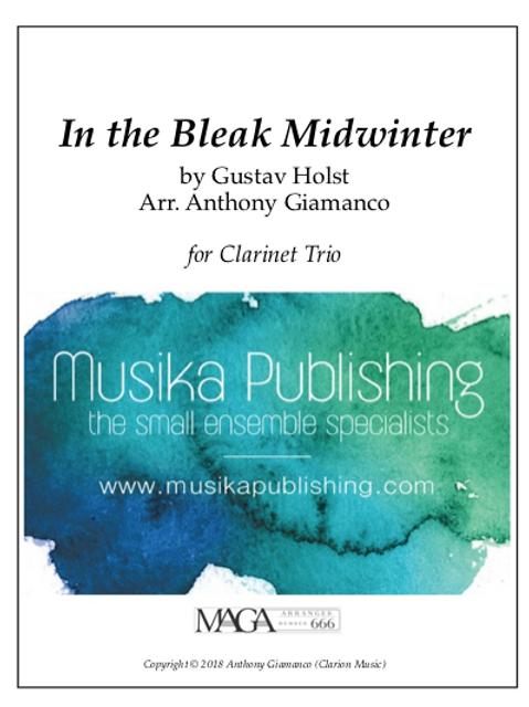 In the Bleak Midwinter - Clarinet Trio