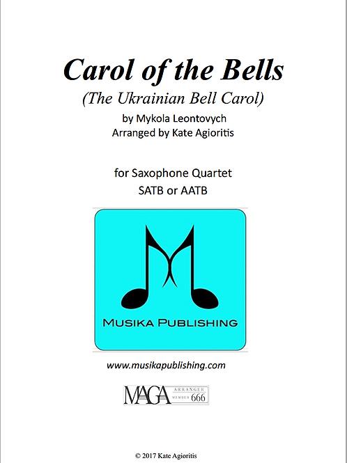 Carol of the Bells (Ukrainian Bell Carol) - Saxophone Quartet