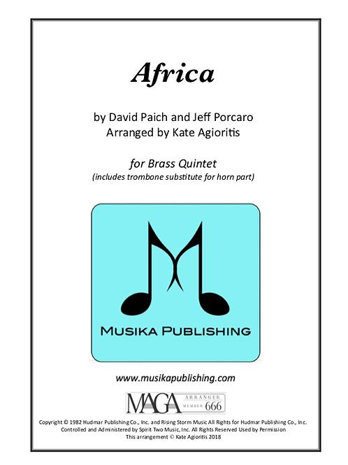 Africa - for Brass Ensemble/Quintet