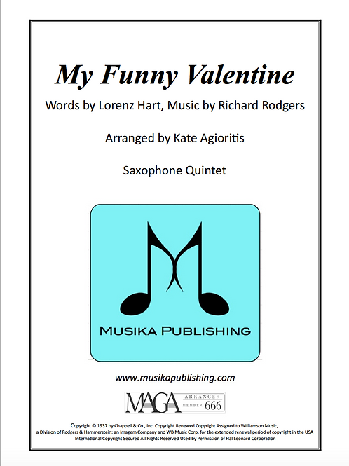 My Funny Valentine - Saxophone Ensemble