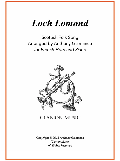Loch Lomond - for French Horn and Piano