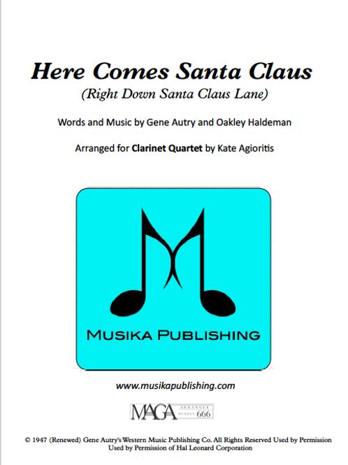 Here Comes Santa Claus - Clarinet Quartet