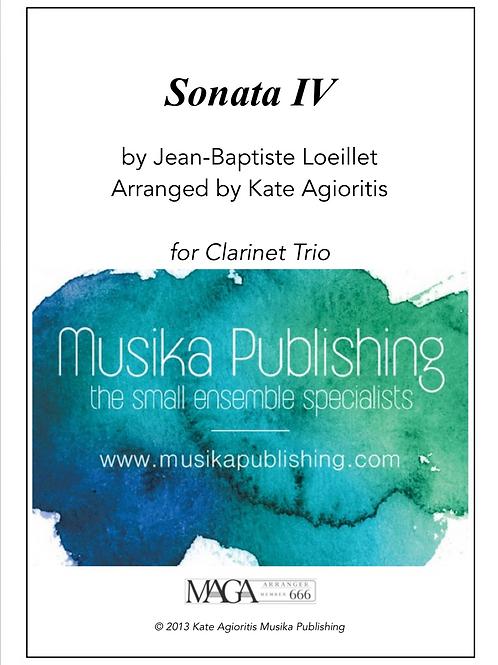 Sonata IV - Clarinet Trio