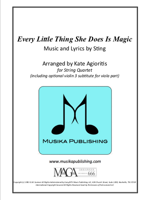 Every Little Thing She Does Is Magic - String Quartet