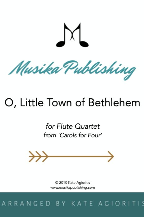 O Little Town of Bethlehem - Flute Quartet