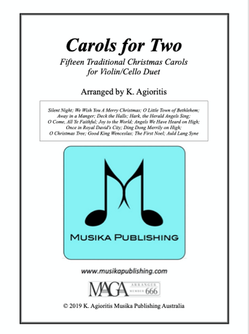 Carols for Two - Fifteen Carols for Violin/Cello Duet