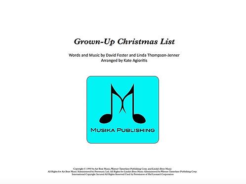 Grown-Up Christmas List - Jazz Ensemble Vocal Feature