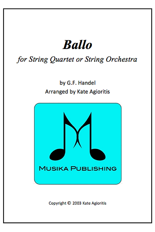 Ballo - String Quartet/Orchestra