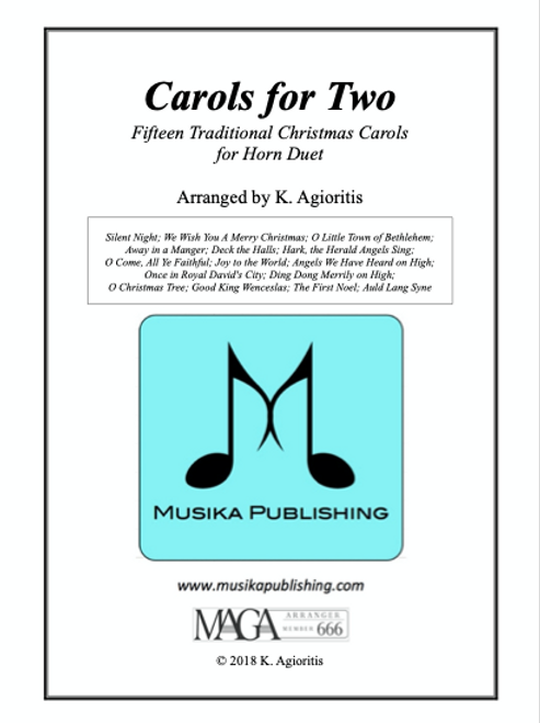 Carols for Two - Fifteen Carols for Horn Duet