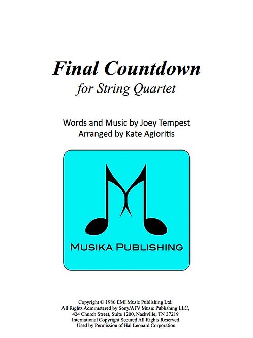 Final Countdown - String Quartet
