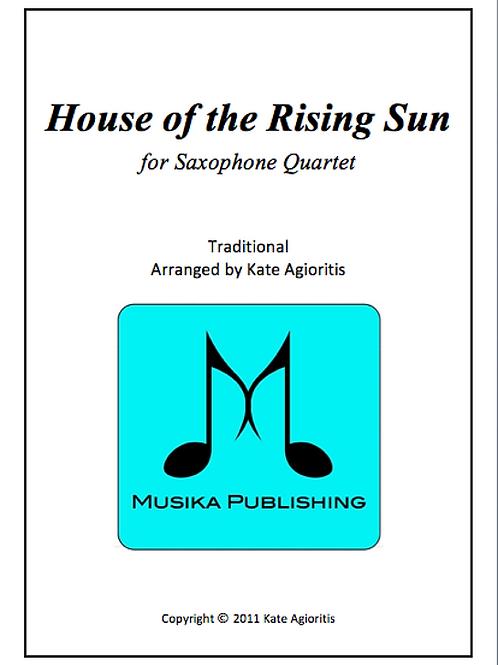 House of the Rising Sun - Saxophone Quartet