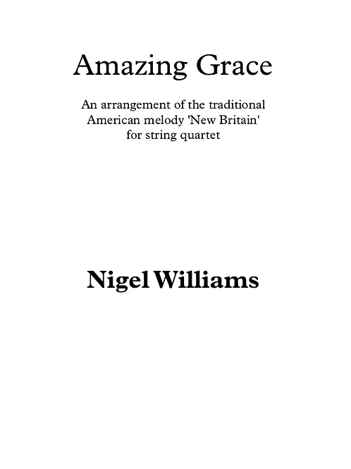 Amazing Grace - String Quartet