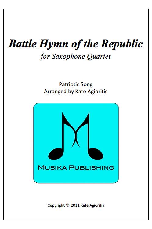 Battle Hymn of the Republic (Jazz) - Saxophone Quartet