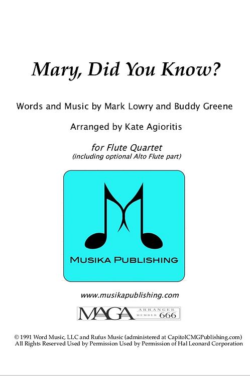 Mary, Did You Know? - Flute Quartet
