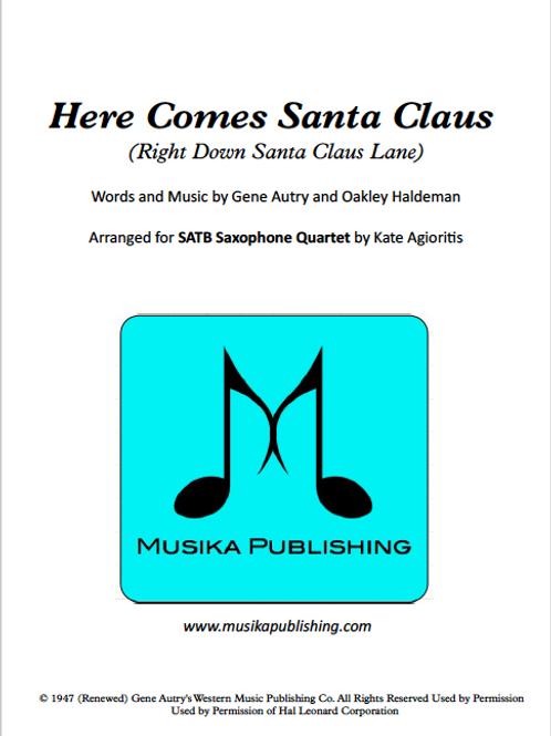 Here Comes Santa Claus - Saxophone Quartet