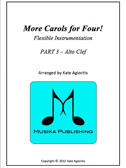 More Carols for Four Part 3 - Alto Clef
