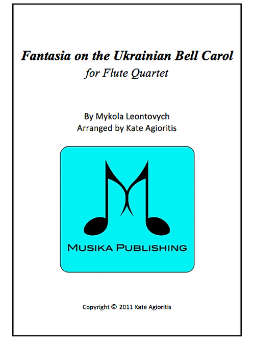 Fantasia on the Ukrainian Bell Carol - Flute Quartet