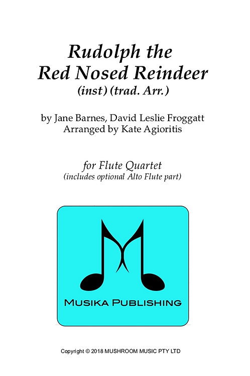 Rudolph the Red Nosed Reindeer - Flute Quartet