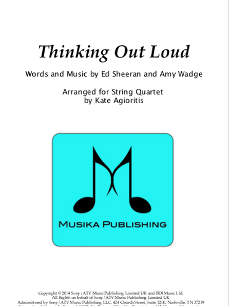 Thinking Out Loud - String Quartet