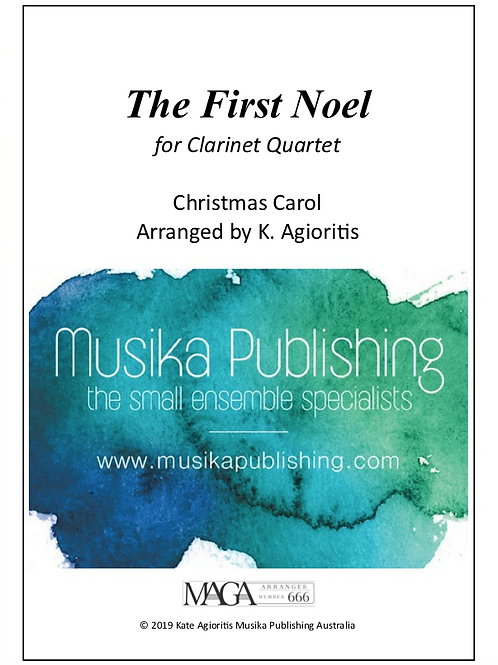 The First Noel - Clarinet Quartet