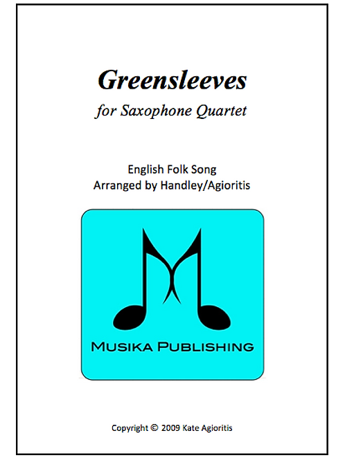 Greensleeves (What Child Is This) - Saxophone Quartet