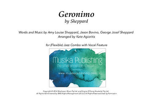 Geronimo (Sheppard) - Jazz Combo Vocal Feature