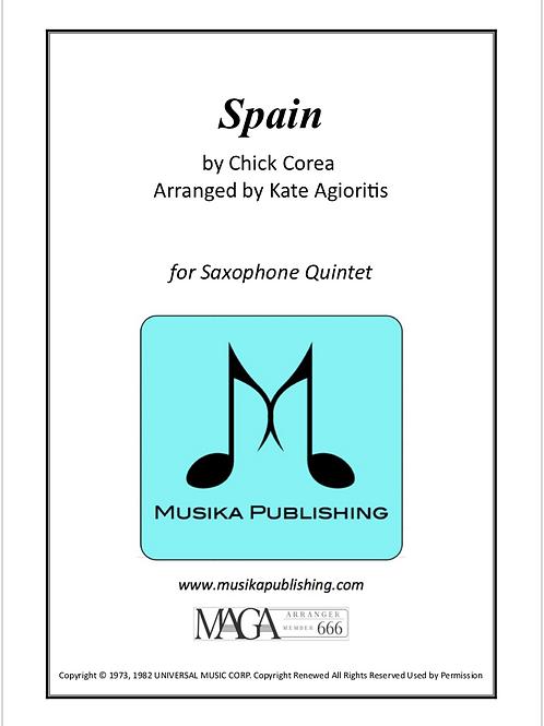 Spain - for Saxophone Quintet