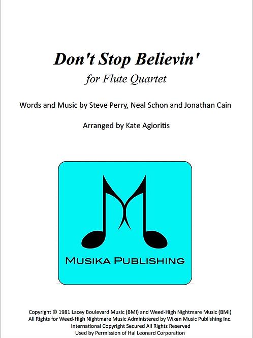 Don't Stop Believin' - Flute Quartet