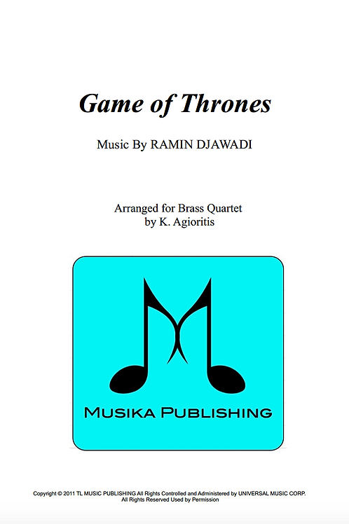 Game of Thrones - Brass Quartet