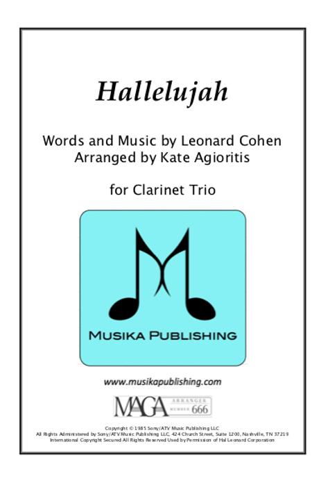 Hallelujah - Clarinet Trio