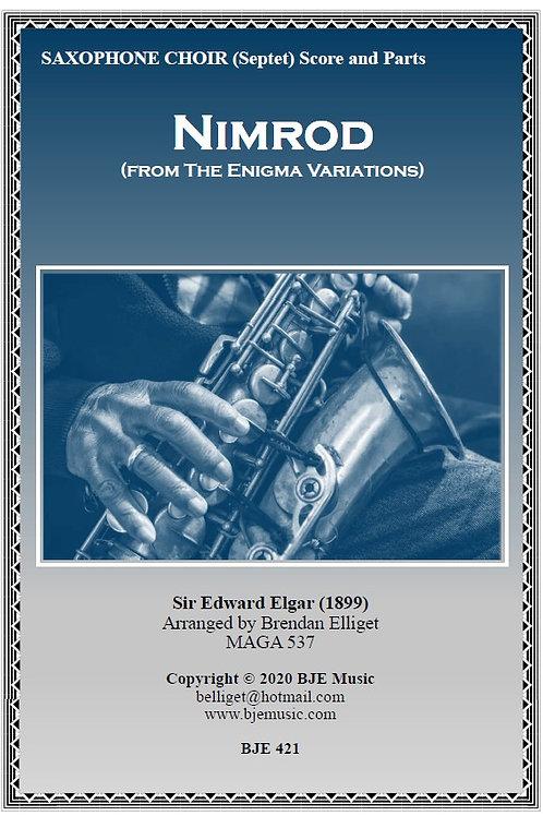 Nimrod (from The Enigma Variations) - Saxophone Ensemble (Septet)