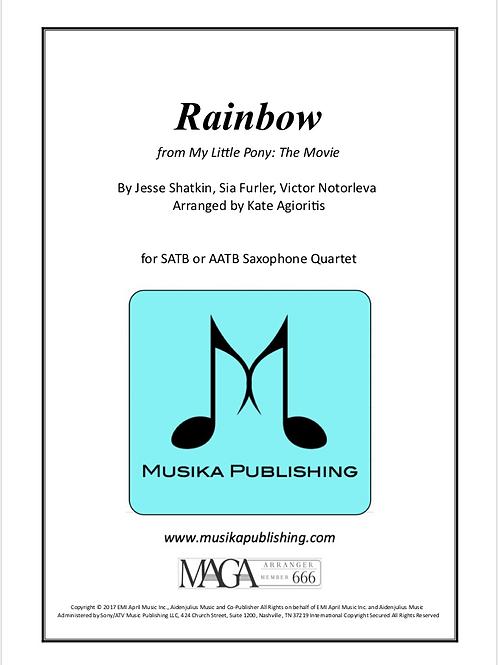 Rainbow - by Sia - for Saxophone Quartet