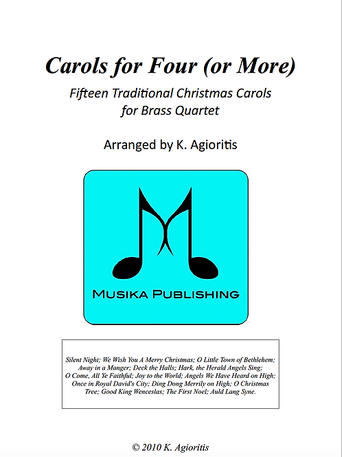 Carols for Four (or more) - Brass Quartet