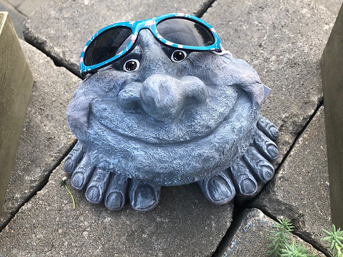 Smiley Rock with Shades