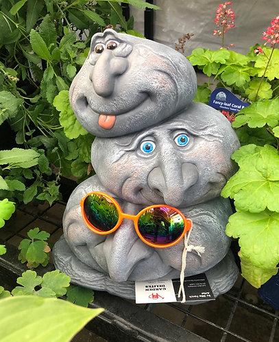 3-Head Garden Rock