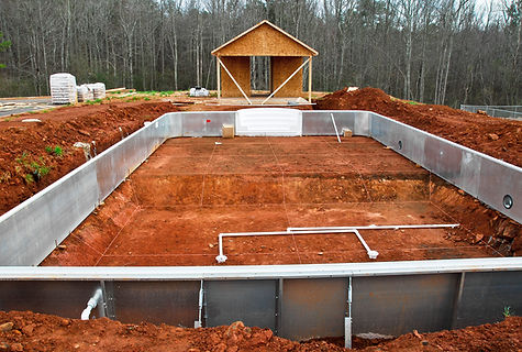 A New In Ground Swimming Pool being inst
