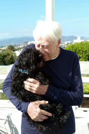 Ken and his cute little dog, Charley