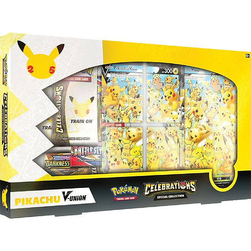 ( Coming Soon) POKEMON: PIKACHU V-UNION - CELEBRATIONS SPECIAL COLLECTION