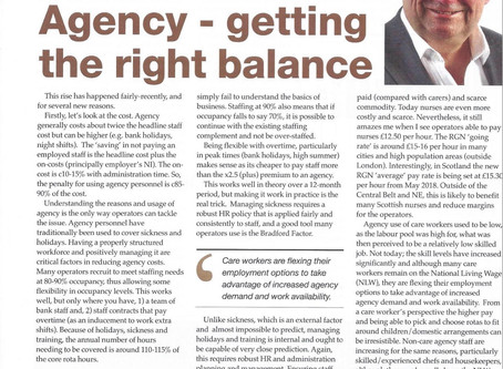 Agency - getting the right balance
