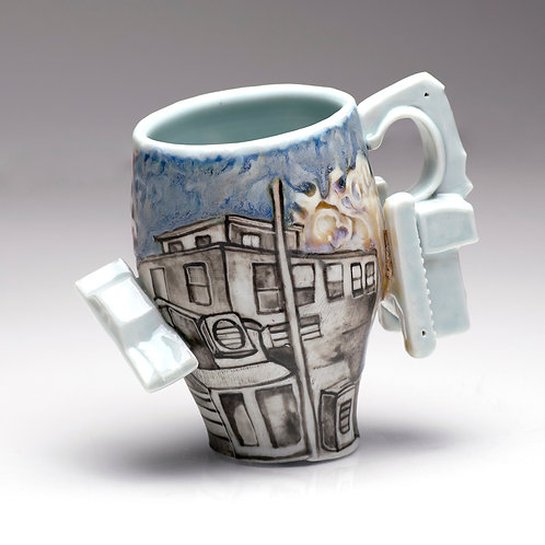 Coffee Cup / Drawing of home
