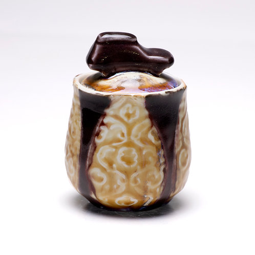 Subaru Forester tea/spice jar with etchings