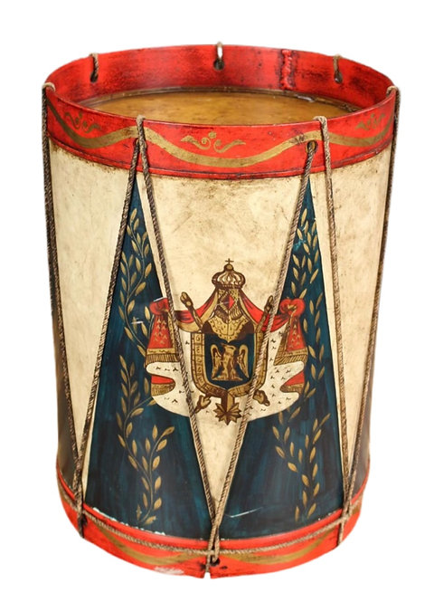 Military Style Paint Decorated Snare Drum