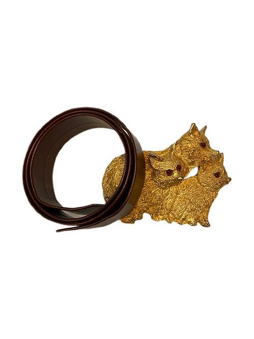Gold Plated Fox Belt