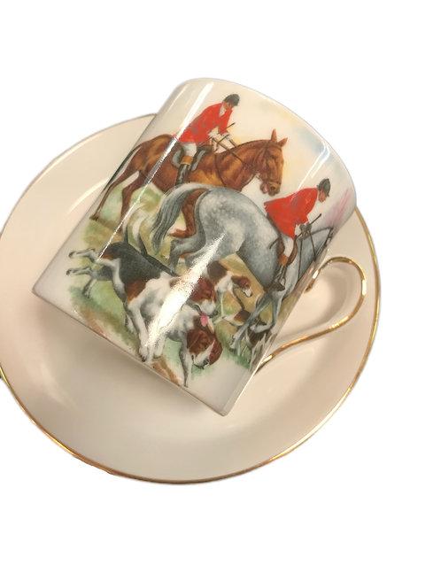 Demitasse Equestrian Cup & Saucer