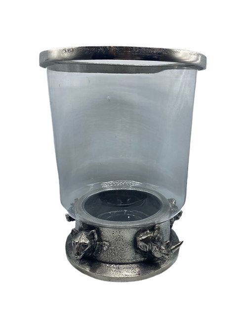 Safari Glass & Pewter Hurricane